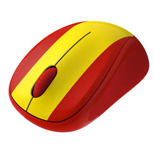 Logitech Mouse Wireless Mouse M235 Spain Unisex Red Yellow Tifoshop