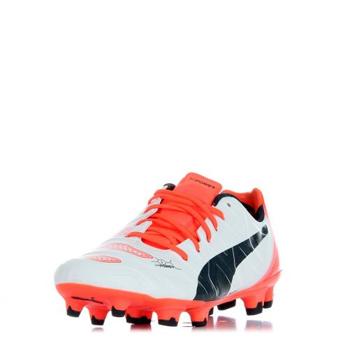 Puma Football Shoes Evopower 1.2 Fg white-total eclipse-fiery coral Tifoshop