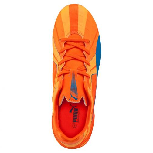 Puma Fußball-schuhe Evospeed 4 H2h Fg Jr  Juniormode orange clown fish-electric blue lemonade Tifoshop