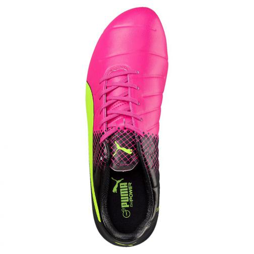 Puma Football Shoes Evopower 3.3 Tricks Fg pink glo-safety yellow-black Tifoshop