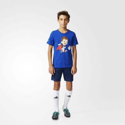 Adidas Originals T-shirt Mascot Graphic  Junior Blu Tifoshop