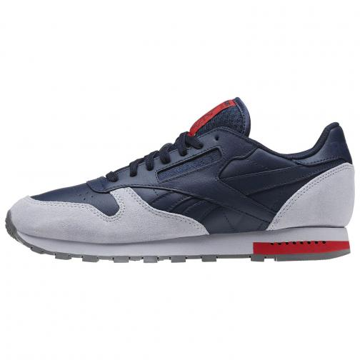 Reebok Shoes Cl Leather NAVY GREY Tifoshop