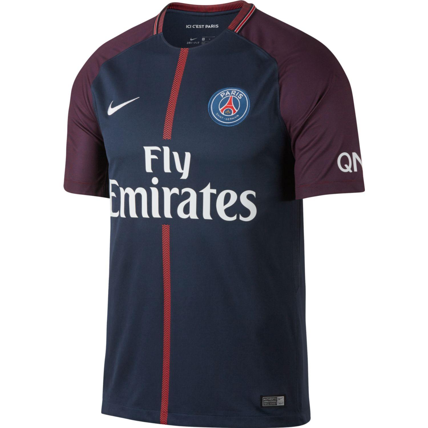 Nike Shirt Home Paris Saint Germain   17/18