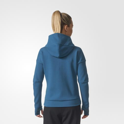 Adidas Sweatshirt Z.n.e. Hood 2 Pulse  Woman PETROL NIGHT F17 Tifoshop