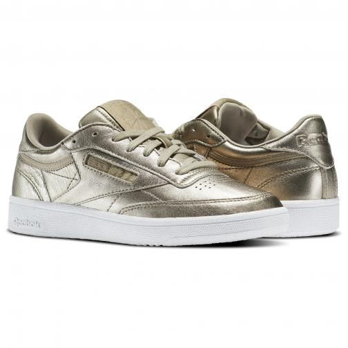Reebok Shoes Club C Melted  Woman Pearl Met-Grey Gold/White Tifoshop