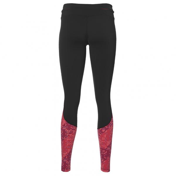 Asics Pant Race Tight  Woman PERFORMANCE BLACK/LITE STRIPE COSMO PINK Tifoshop