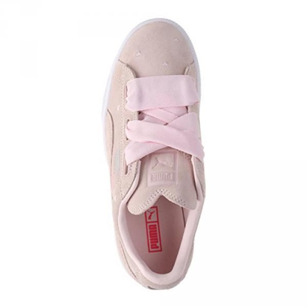 Puma Shoes Suede Heart Valentine  Junior PEARL-PEARL Tifoshop