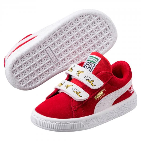 Puma Shoes Minions Suede V Ps  Junior HIGH RISK RED-PUMA WHITE Tifoshop