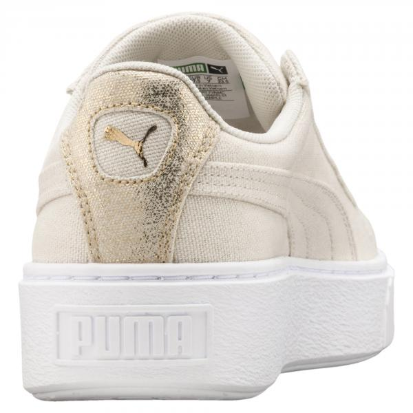 Puma Shoes Basket Platform Canvas  Woman Birch-Puma Team Gold Tifoshop