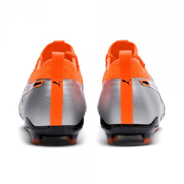 Puma Fußball-schuhe One 2 Lth Fg PUMA SILVER-SHOCKING ORANGE-PUMA BLACK Tifoshop