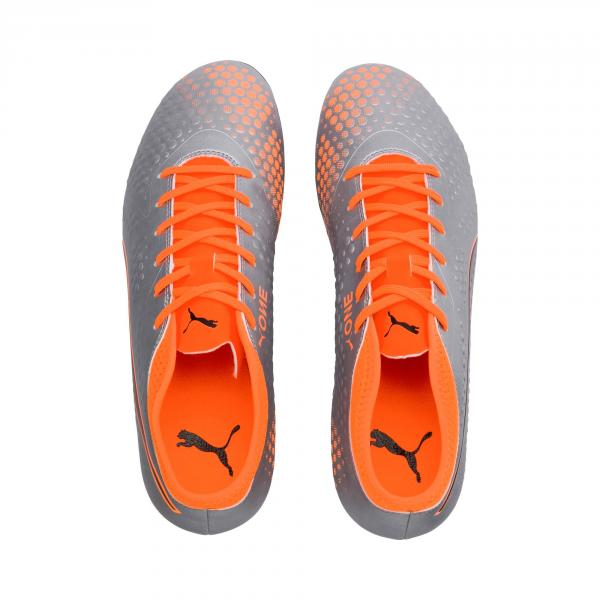 Puma Fußball-schuhe One 4 Syn Fg PUMA SILVER-SHOCKING ORANGE-PUMA BLACK Tifoshop