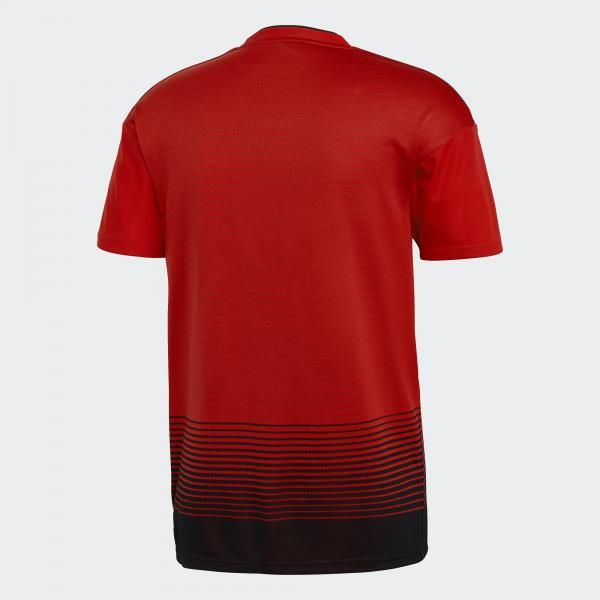 Adidas Shirt Home Manchester United   18/19 Real Red / Black Tifoshop