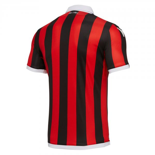 Macron Shirt Home Ogc Nice   18/19 RED/BLACK Tifoshop