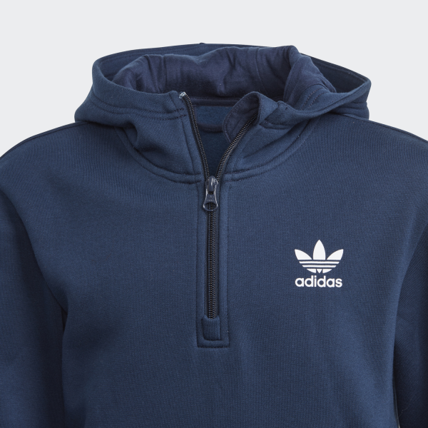 Adidas Originals Felpa  Junior Blu Tifoshop