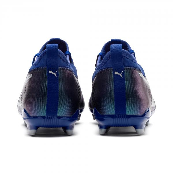 Puma Football Shoes One 3 Lth Fg Blue-Silver-Peacoat Tifoshop