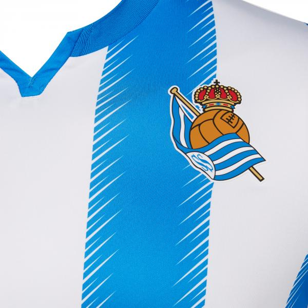 Macron Maglia Gara Home Real Sociedad   19/20 ROYAL WHITE Tifoshop