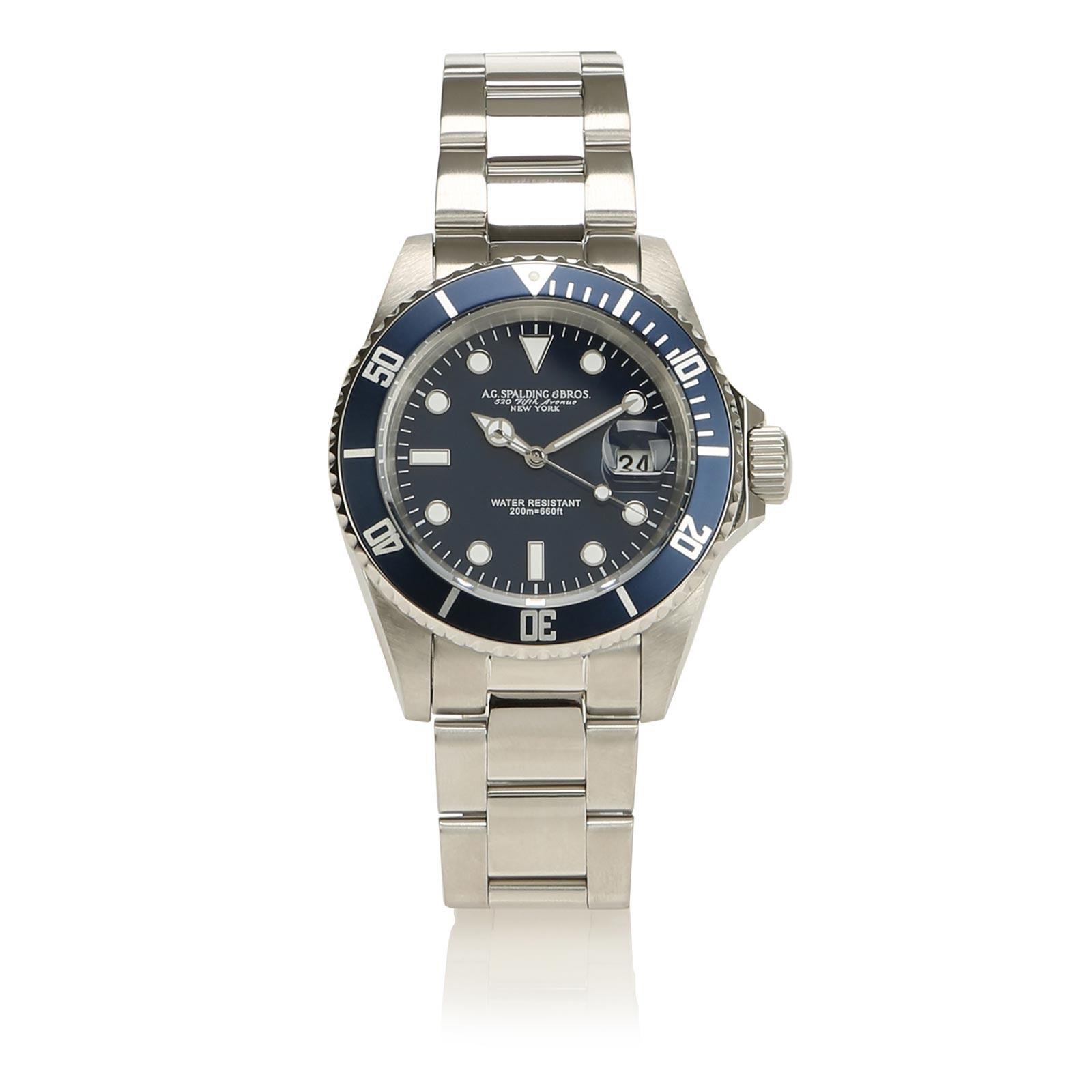 Diver Man Watch Bleu