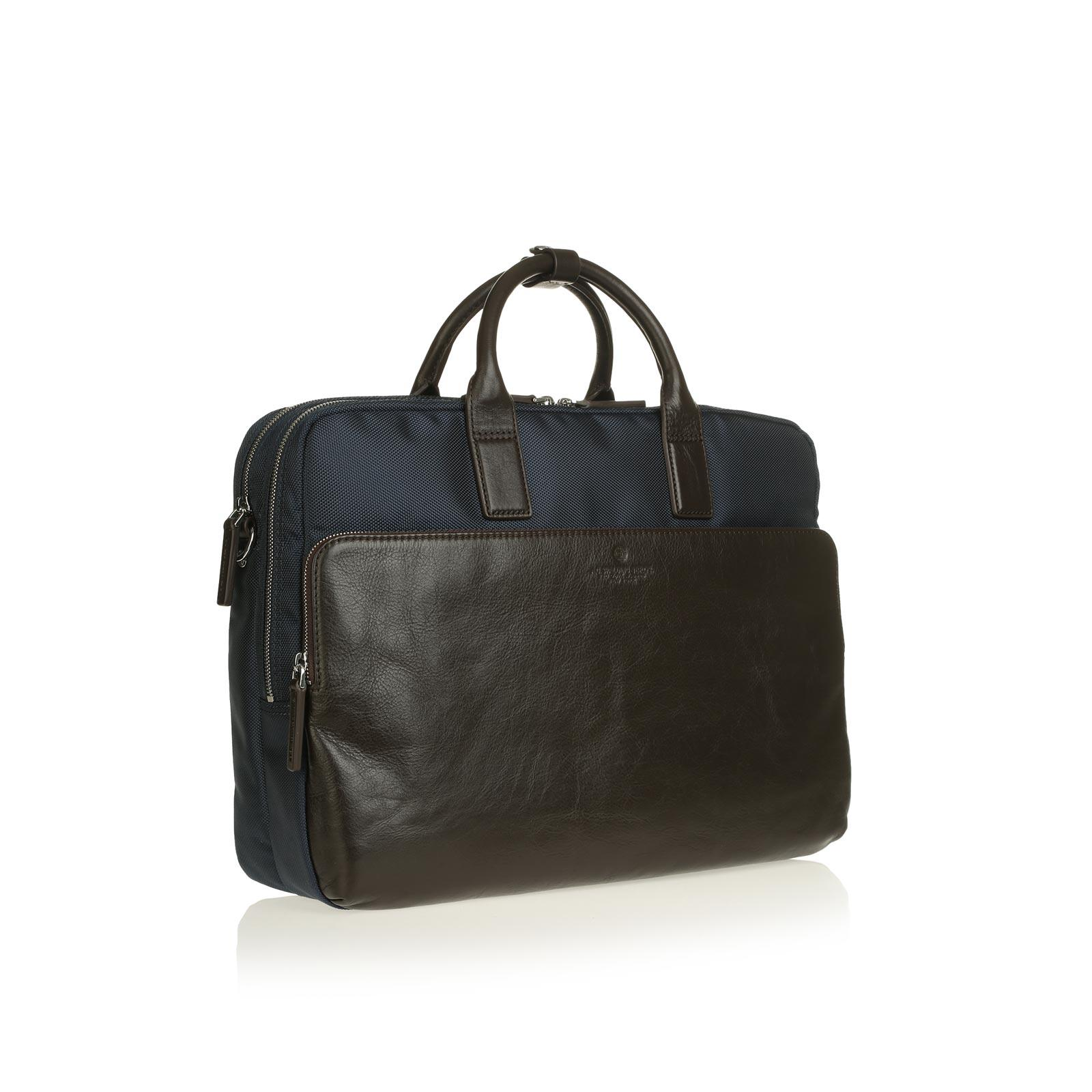 Metropolitan 2 Zip Briefcase BLUE/DARK BROWN