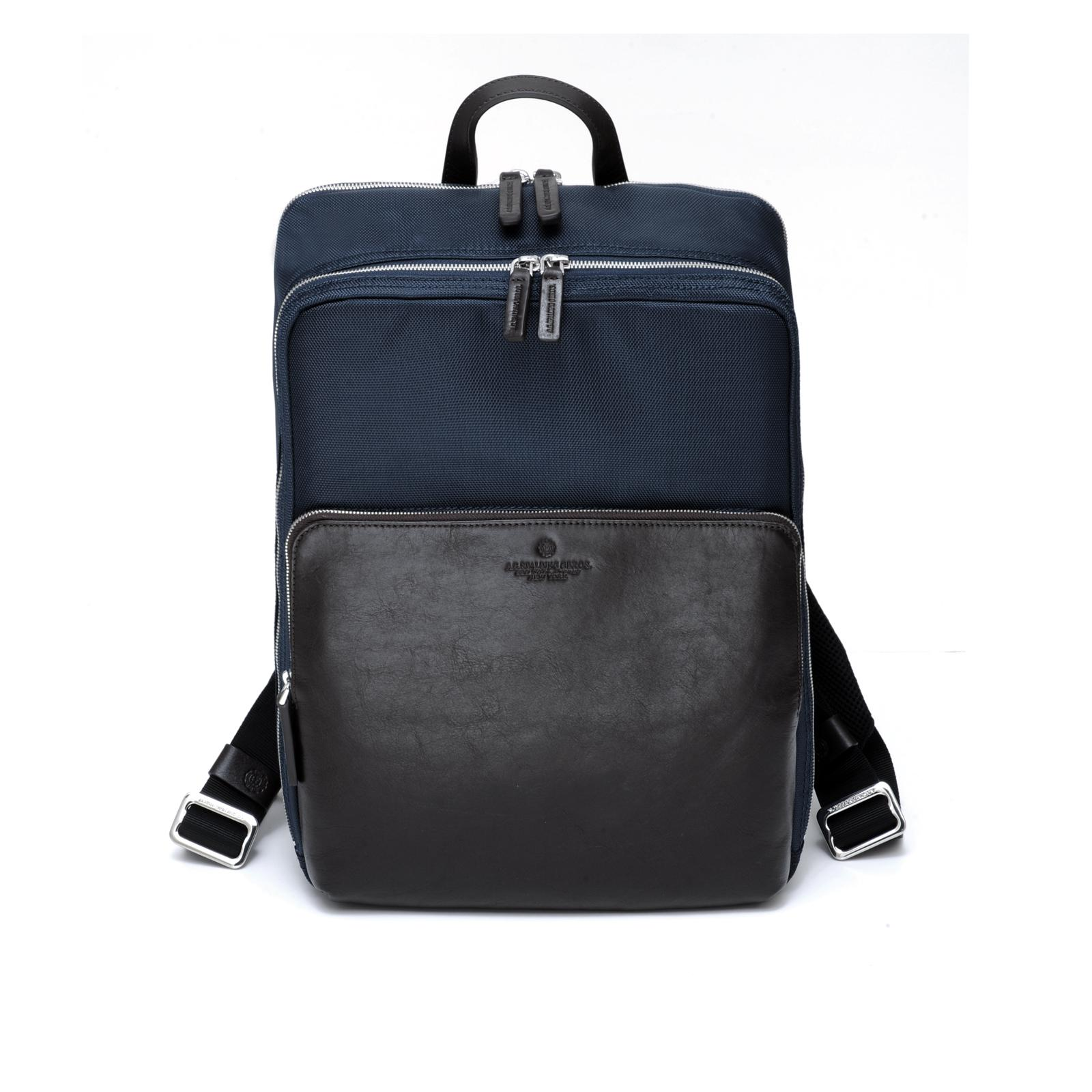 New Metropolitan Square Backpack DARK BROWN/BLUE