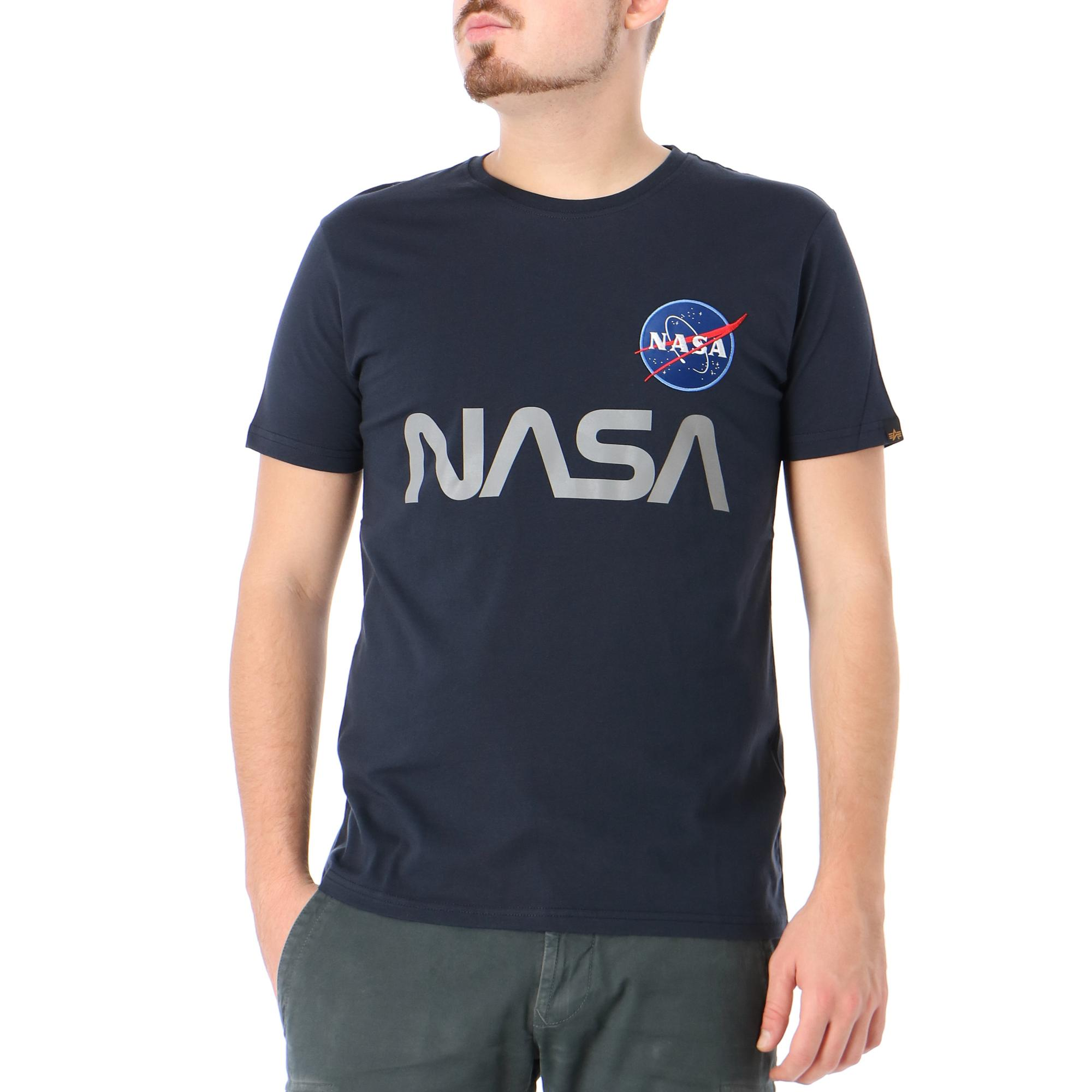 Alpha Industries Nasa Reflective T Rep blue