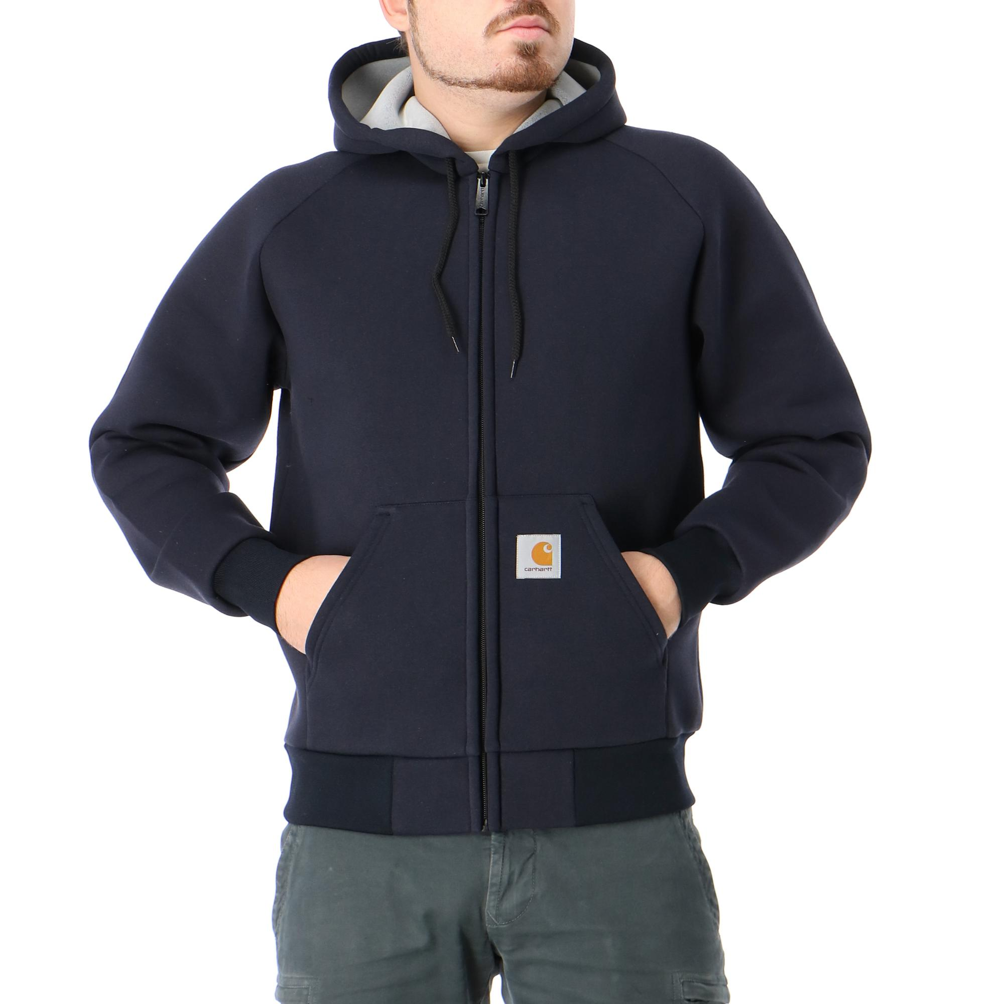Carhartt Car-lux Hooded Jacket Dark navy grey