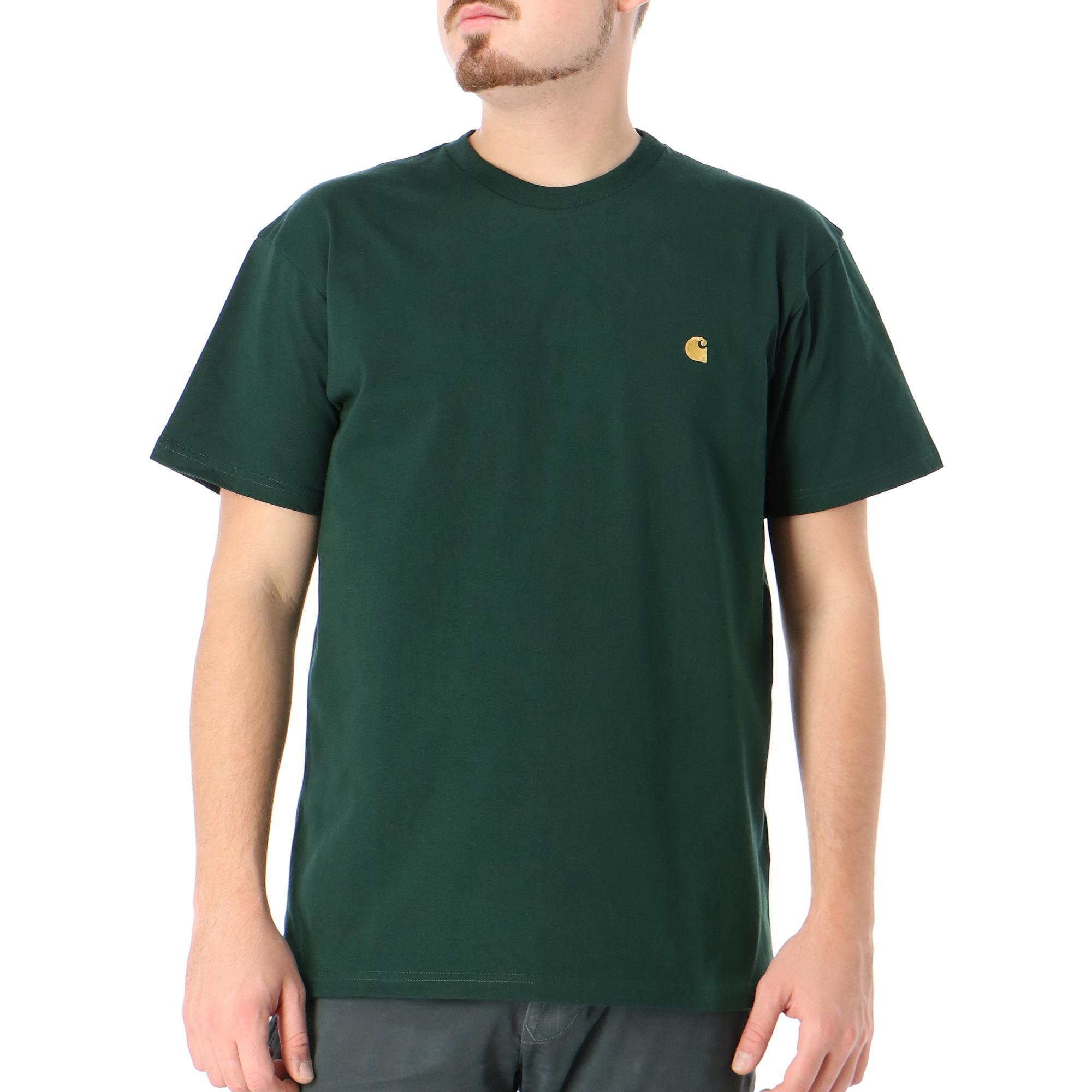 Carhartt S/s Chase T-shirt Bottle green gold