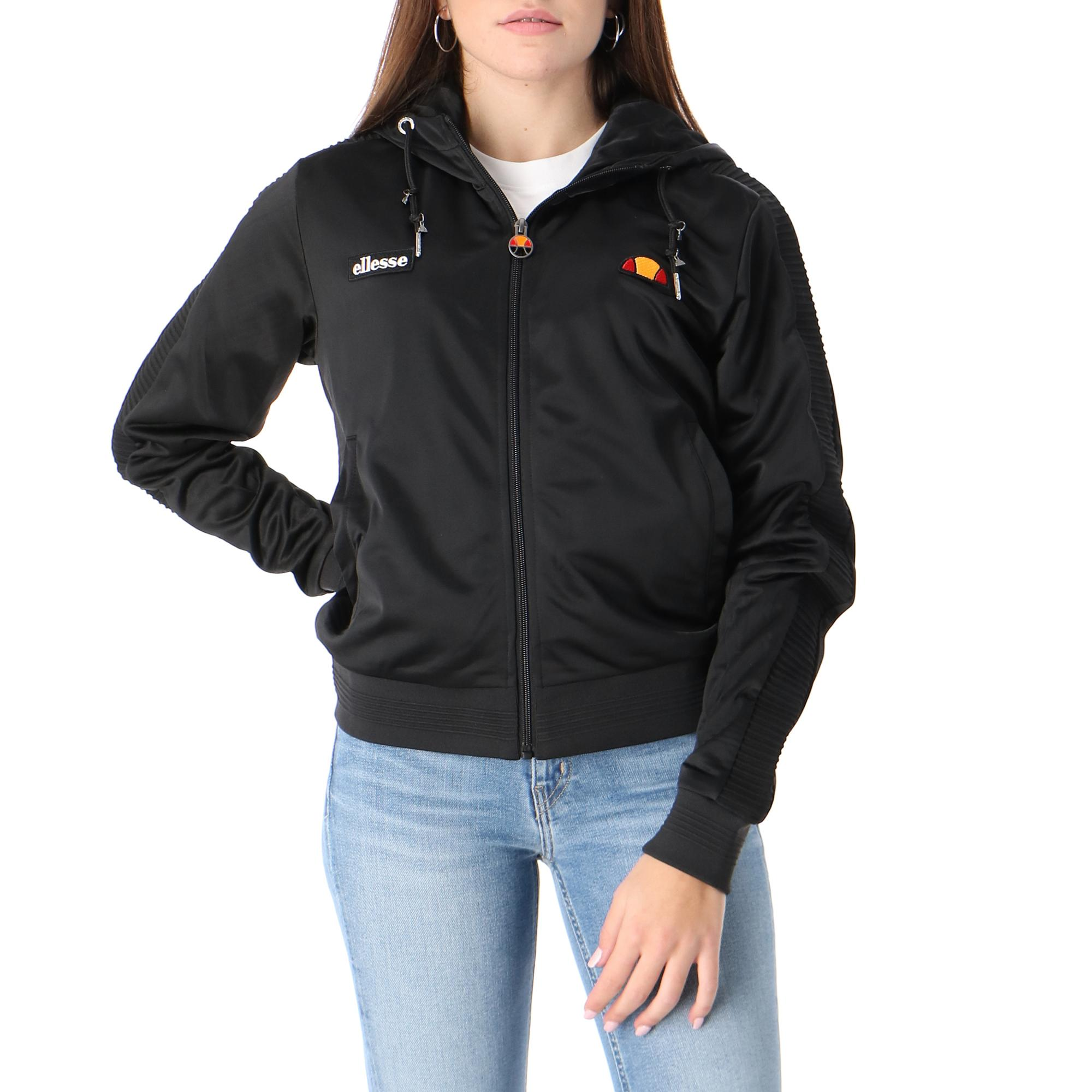 Ellesse Hoodie Full Zip Crop Black