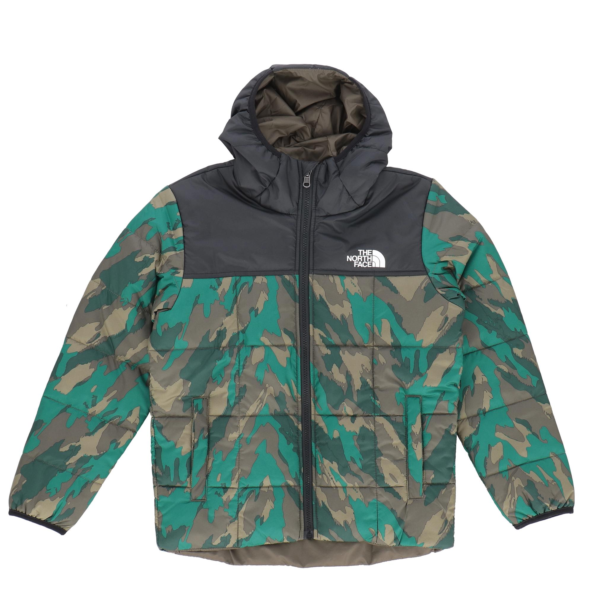 The North Face B Rev Perrito Jacket Kids Evergreen mountain camo print