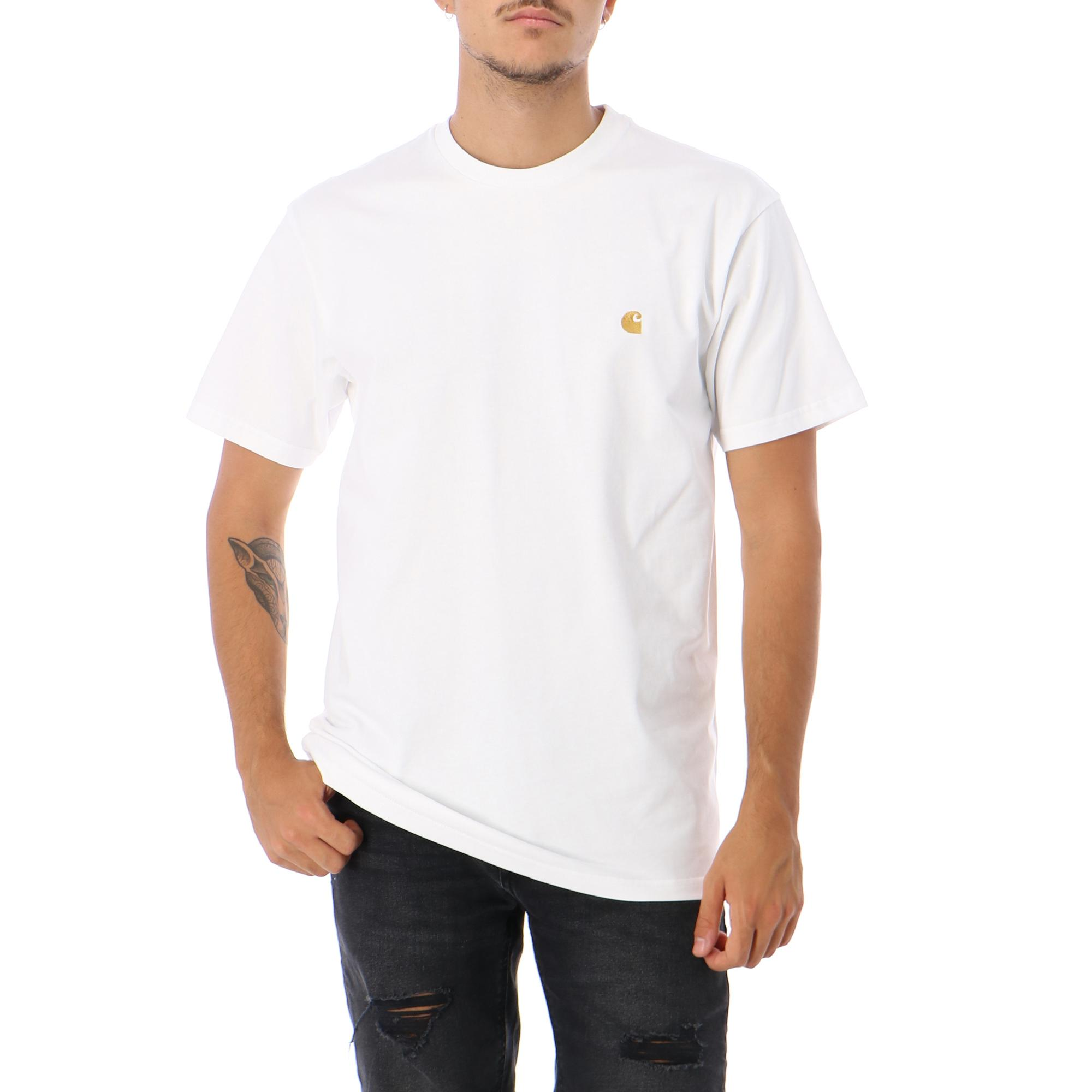 Carhartt Ss Chase T Shirt WHITE GOLD