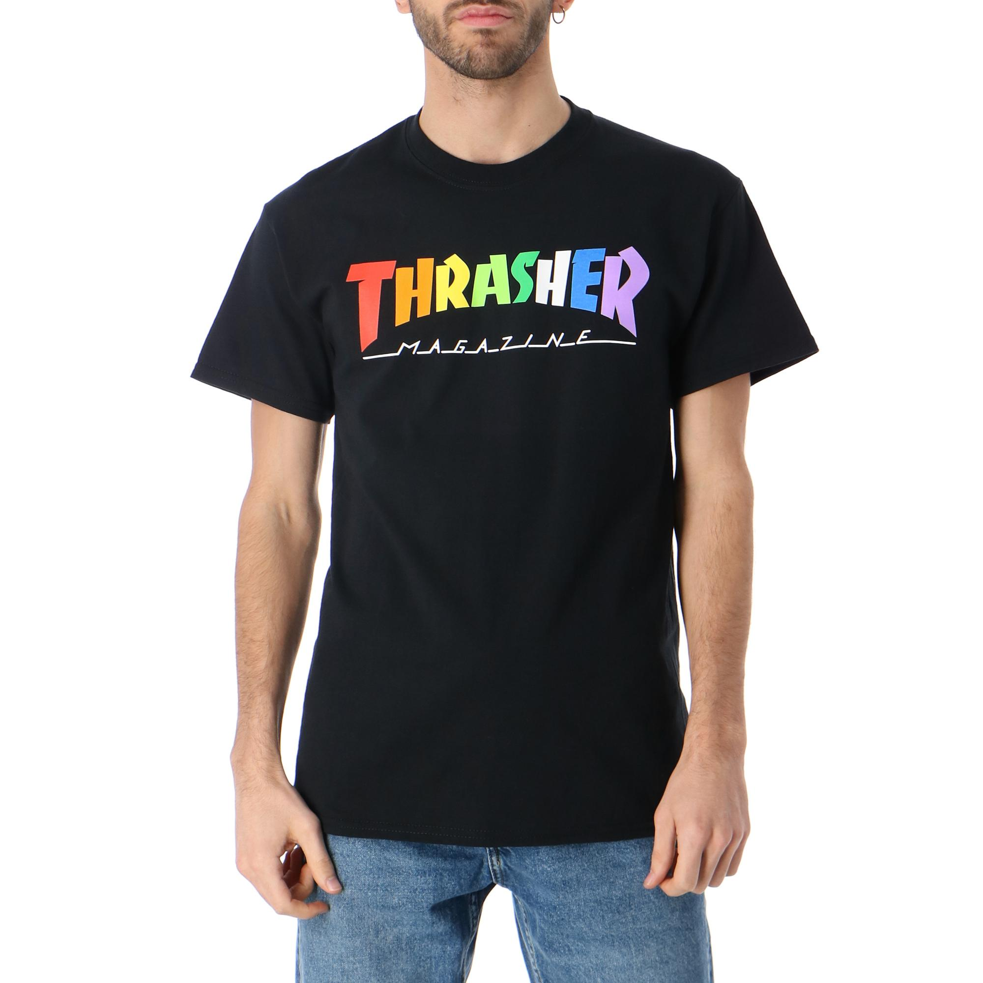 Thrasher Rainbow Mag S/s Black