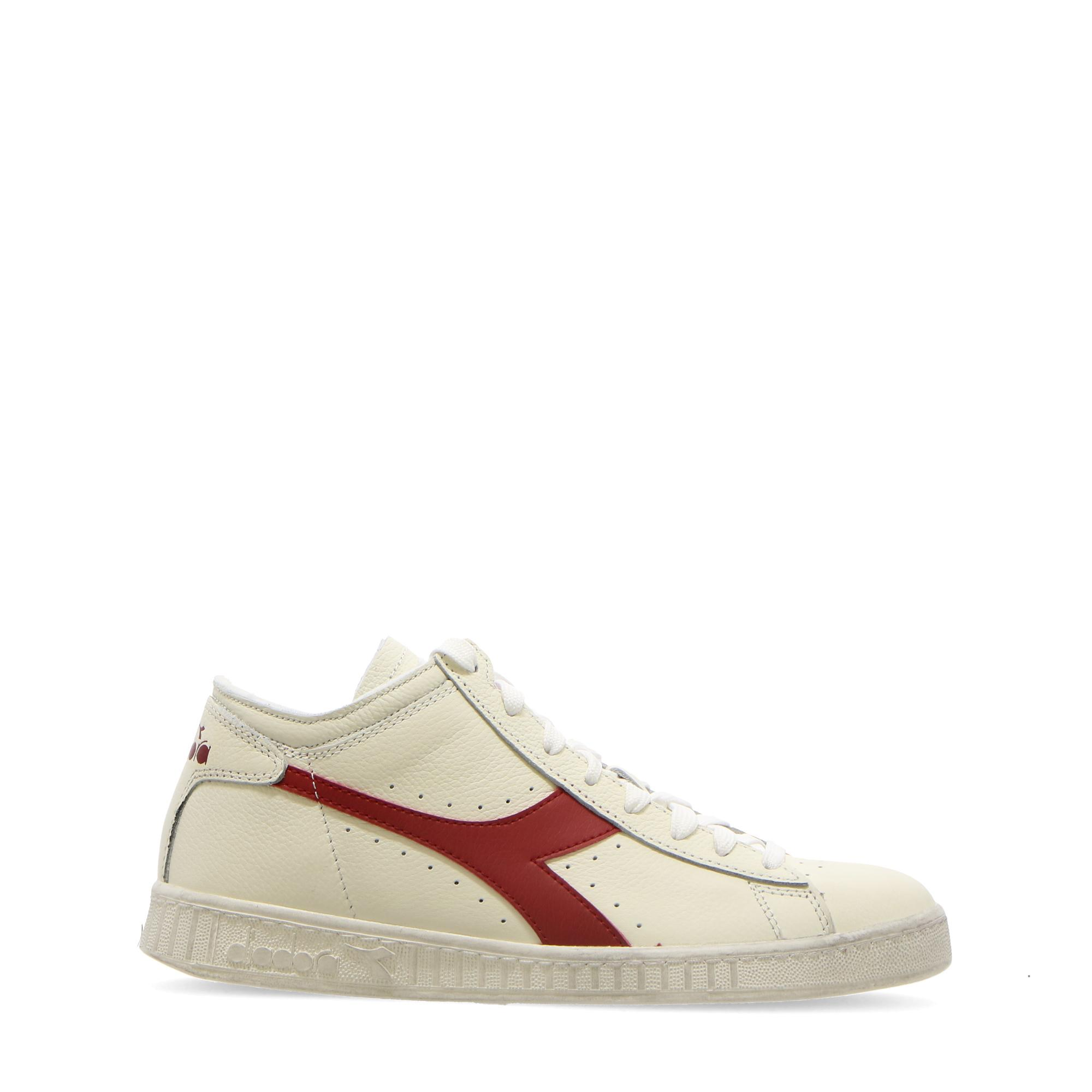 Diadora Game L Waxed Row Cut White red pepper