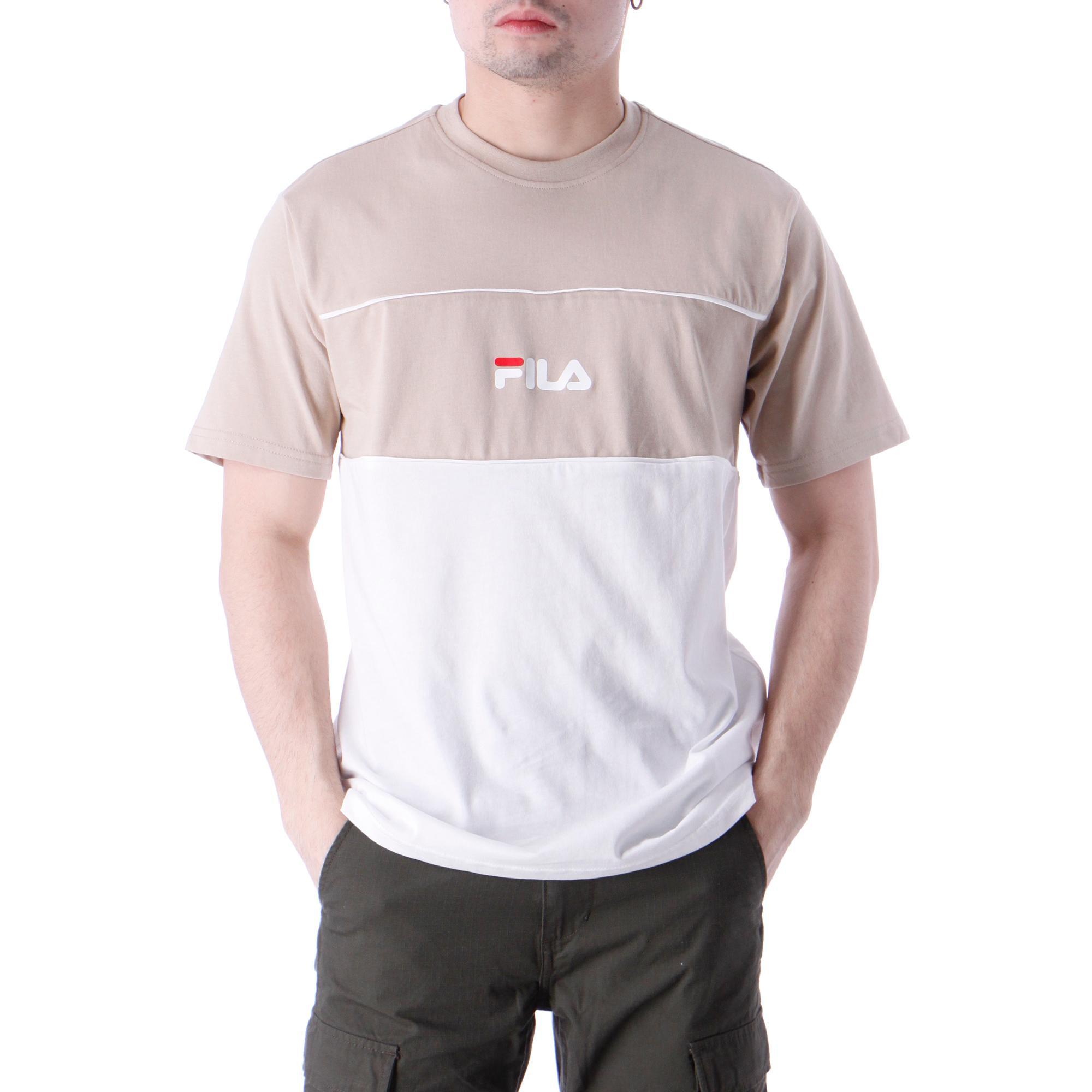 Fila Anoki Blocked Tee Oxford tan bright white