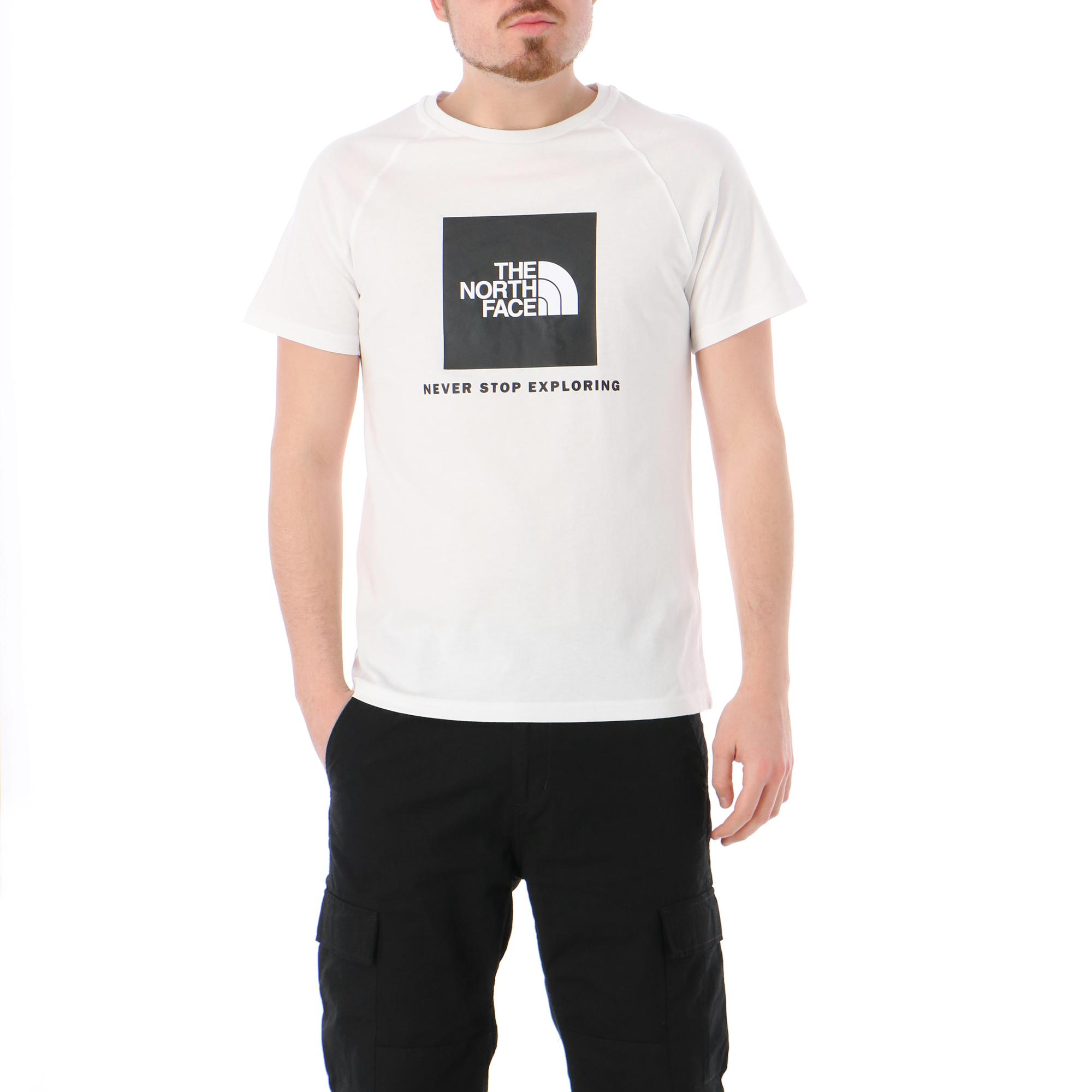 The North Face M Raglan Redbox Tee TNF WHITE